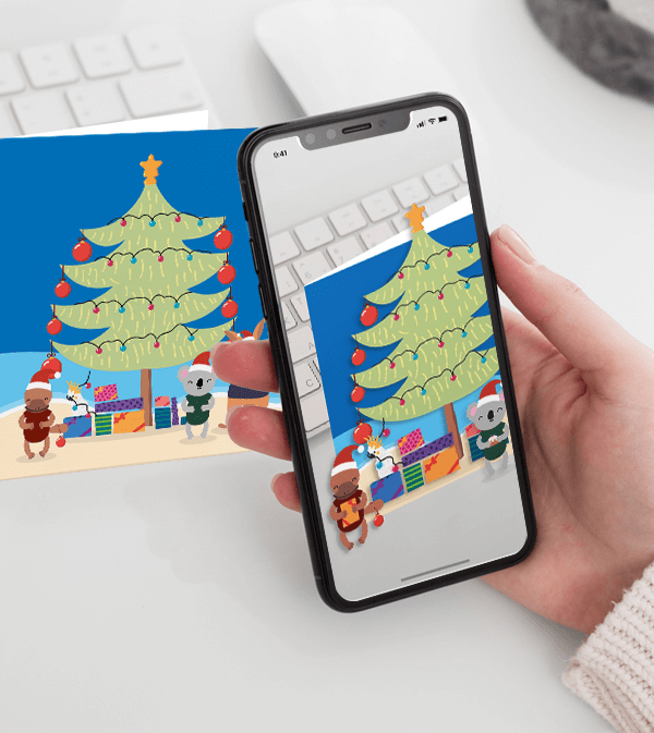 Augmented Reality Christmas card